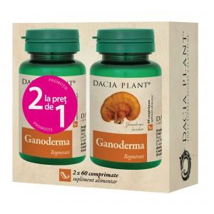 Ganoderma 60 comprimate, 1+1 gratis, Dacia Plant