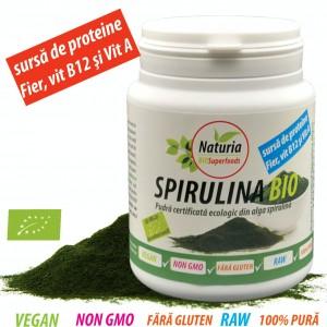 Spirulina  ecologca / BIO pudra, 100g, Naturia