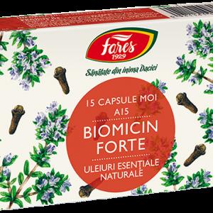 Biomicin forte A15(antibiotic natural), 15 capsule moi, Fares