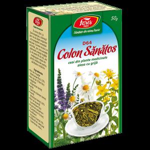 Ceai Colon sanatos (colon iritabil), D64, vrac 50 g Fares