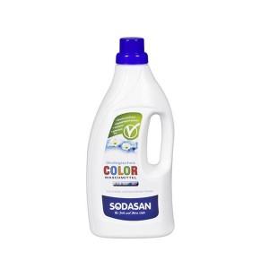 Detergent lichid BIO pentru RUFE COLORATE,  Sodasan 1,5 L