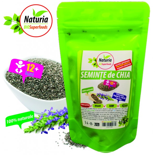 Seminte de CHIA, 150 g, Naturia