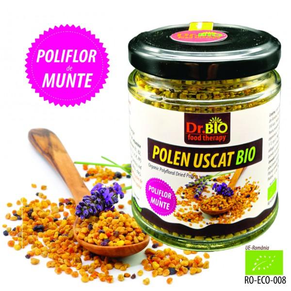 Polen poliflor uscat BIO raw, 100g Dr BIO