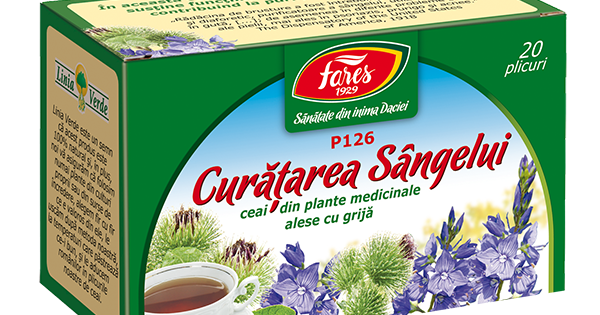 Ceai Curățarea Sângelui, P, 50 g, Fares : Farmacia Tei online