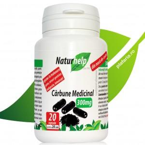 CARBUNE MEDICINAL 300MG 20 CAPSULE NATURHELP