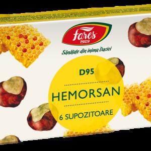Hemorsan, D95, 6 supozitoare, Fares