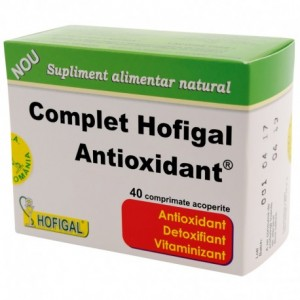 Complet Antioxidant, 40 comprimate, Hofigal