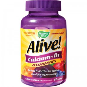 ALIVE CALCIUM+D3 GUMMIES 60 JELEURI, SECOM
