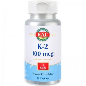 K-2, 100 MCG, 30 CPS, SECOM