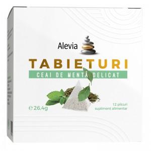 Ceai de menta delicata Tabieturi, 12 plicuri, Alevia