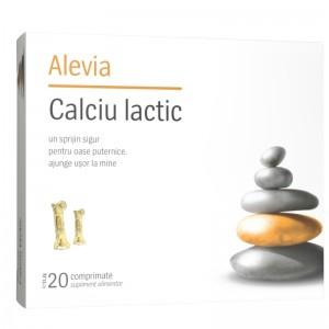 Blister Calciu lactic 20 cpr Alevia