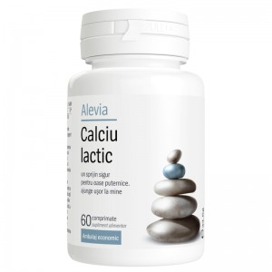 Calciu lactic ambalaj economic, 60 cpr, Alevia