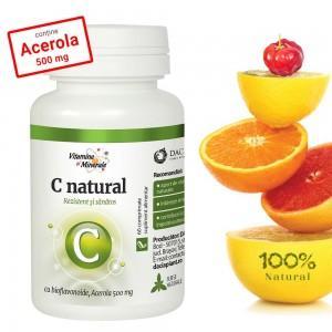 C Natural cu Acerola 60 comprimate masticabile, Dacia Plant