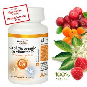 Ca si Mg Organic cu Vitamina D, 60 comprimate, Dacia Plant