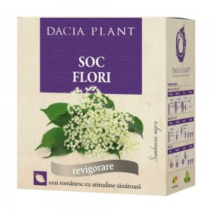 Ceai de flori de soc, vrac 50 g, Dacia Plant