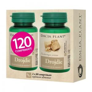 Drojdie 60 comprimate, 1+1gratis, Dacia Plant