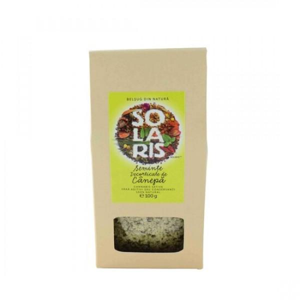 Seminte decorticate Canepa 100g, Solaris Plant