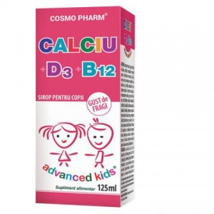 Advanced Kids, Sirop Calciu+D3+B12, 125ml, Cosmopharm