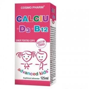 Advanced Kids, Sirop Calciu+D3+B12, 125ml, Cosmopharm