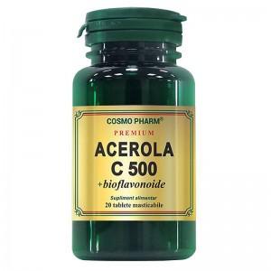 Acerola C 500mg, 20cpr, Cosmopharm