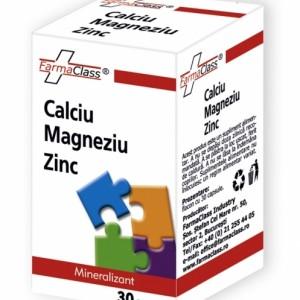 Calciu & Magneziu & Zinc 30 capsule, FarmaClass