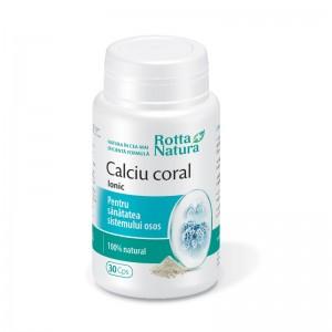 Calciu Coral Ionic, 30 capsule, Rotta Natura