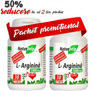 PACHET L-ARGININA 1000MG 30 COMPRIMATE + 30 COMPRIMATE NATURHELP