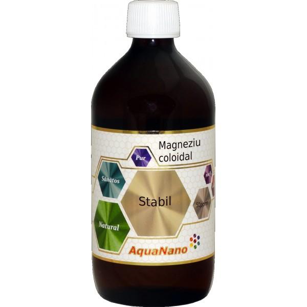 Magneziu coloidal stabil 50 ppm 480ml, Aghoras