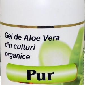 Aloe-Pur gel organic Aloe Vera fără pulpă 1L (polietilena), Aghoras