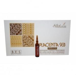 Tratament pentru păr degradat cu Placentă 12 fiole, Alfa Rom