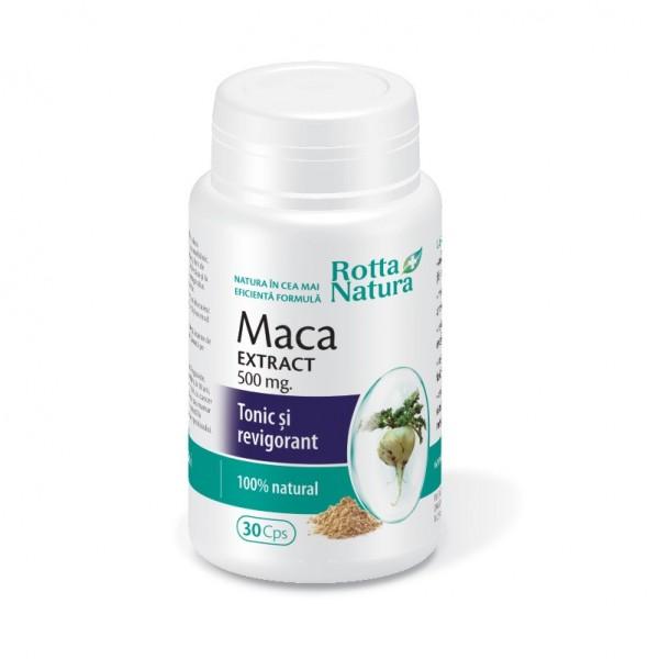Maca extract 500 mg, 30 capsule, Rotta Natura