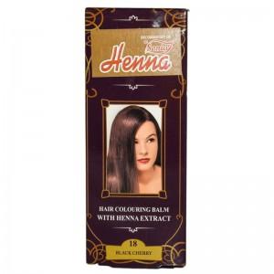 Balsam Colorant pentru Par Henna Sonia Nr.18 - Cireasa Neagra 75g, Kian Cosmetics