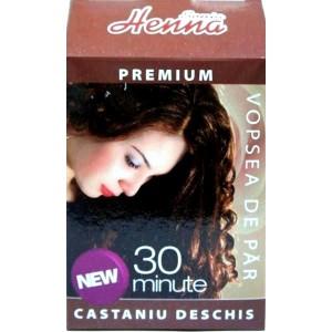 Vopsea par Henna Premium Castaniu deschis 60g, Kian Cosmetics