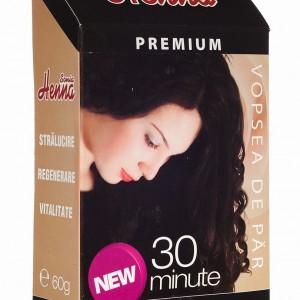 Vopsea par Henna Premium Negru 60g, Kian Cosmetics