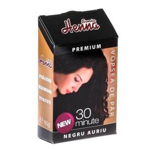 Vopsea par Henna Premium Negru Auriu 60g, Kian Cosmetics