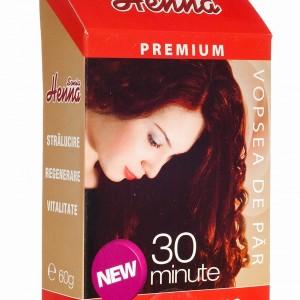 Vopsea par Henna Premium Rosu intens 60g, Kian Cosmetics