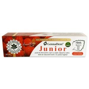 Pastă de dinți cu căpșuni GennaDent Junior, 80 ml, Vivanatura