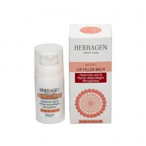 Balsam de buze filler instant cu microsfere de acid hialuronic și atellocolagen, 30 g, Herbagen