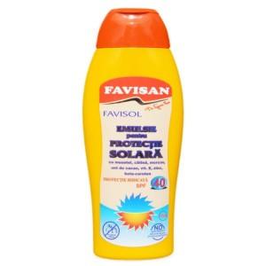 Emulsie protectie solara FPS 40 250ml, Favisan