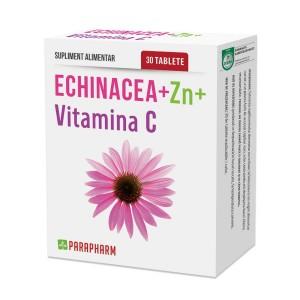 Echinacea + Zinc + Vitamina C, 30 capsule, Parapharm