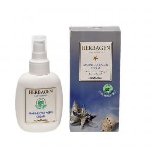 Cremă cu colagen marin și ulei de avocado BIO, 100 gr, Herbagen