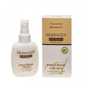 Cremă de față pentru bărbați cu ulei de jojoba și vitaminele A și E, 100 gr, Herbagen