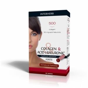 Colagen & Acid Hialuronic Forte, 30 tab, Interherb