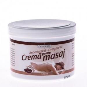 Cremă pentru masaj cu extract de cofeină, 500 ml, Interherb