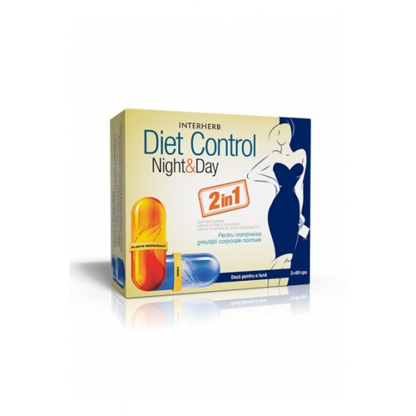 Diet Control Night & Day 2x60 cps, Interherb