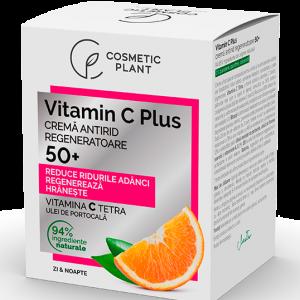 Cremă antirid regeneratoare 50+ Vitamin C Plus, 50 ml, Cosmetic Plant