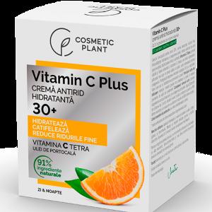 Cremă antirid hidratantă 30+ Vitamin C Plus, 50 ml, Cosmetic Plant