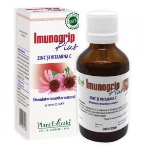 Imunogrip Plus Zinc și Vitamina C, 50 ml, PlantExtrakt