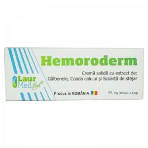 Hemoroderm supozitoare, 10 buc. x 1,5 g, Laur Med Plant