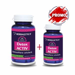 Detox activ 60 cps + 10 cps promo, Herbagetica